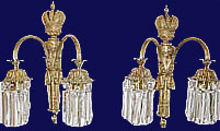 Russian Imperial Palace Bronze Wall Sconces Nicholas II 1900