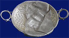 A RUSSIAN TROMPE L'OEIL SILVER BASKET 1896-1908 Moscow