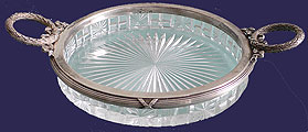 Faberge Silver Crystal Seving Lemon Dish Moscow 1908-1917