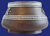 Faberge Silver Palisander Bowl Moscow 1908-1917
