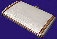 Russian Guilloche Enamel Cigarette case by I. Britzin 1909-1912