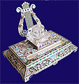 Russian Silver Enamel Ink Well 1908-1917