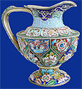 Russian Silver Enamel Milk Jug by Ruckert 1898-1908
