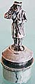 Russian silver  MAN CORK STOPPER