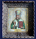 Russian Icon Bishop Saint Iosaaf (Joseph) from Belgorod 19th cent  in Orig. Kiot