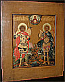 Russian Icon St. Seorge & St. Dmitry Moscow School 1875