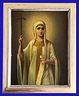 St Nina A Russian Silver Gold Icon 1908 -1917