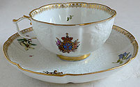Meissen Porcelain Cup&Saucer Peter I Service 18th cent
