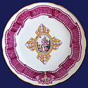 RARE Porcelain Plate from Order of St Catherine 1830s