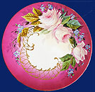 Russian Decorative Wall Porcelain Charger Kuznetsov Factory 19th cent