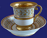 Russian Imperial Porcelain Babigon Cup Saucer 1825-1894