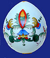 Russian Imperial Porcelain Easter Egg 19th cent