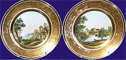 Russian Imperial Porcelain Plates Popov Manufactury8 1/4