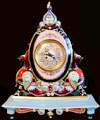 Russian Porcelain Mantle Clock by Kuznetsov 1872-1889