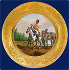 a KPM Russian Imperial Porcelain Factory Military Plate 1829