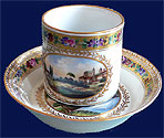 An Extremely Rare Cup & Saucer Maria Pavlovna 1790s