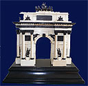 Russian Carved Mammoth Ivory Triumph Arch 19c