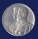 Russian Silver Nicholas II Wedding Medal 1894